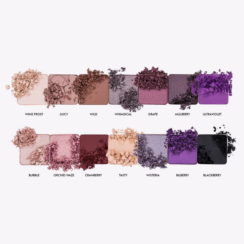14K Pro Eyeshadow Palette Crushed Berries, Eyeshadow Palette, Boys'n Berries