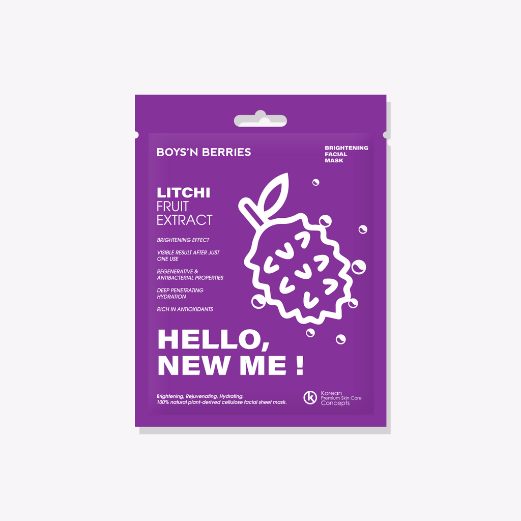 Hello, New Me! Litchi Mask, Face Mask, Boys'n Berries