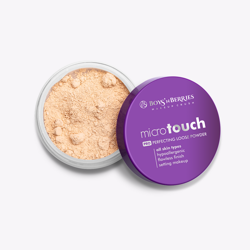 MicroTouch Perfecting Loose Powder Natural, Loose Face Powder, Boys'n Berries