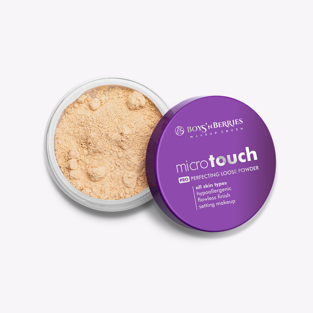 MicroTouch Perfecting Loose Powder Beige, Loose Face Powder, Boys'n Berries