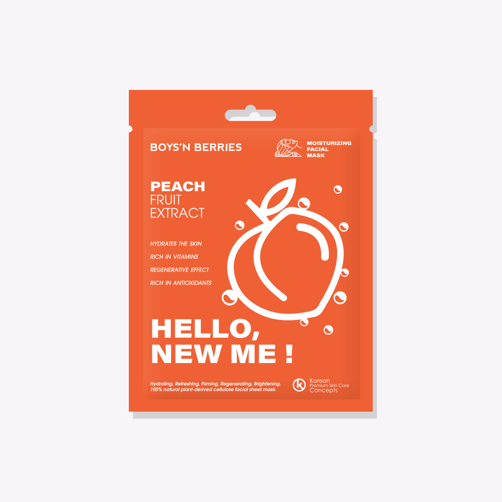Hello, New Me! Peach Mask, Face Mask, Boys'n Berries
