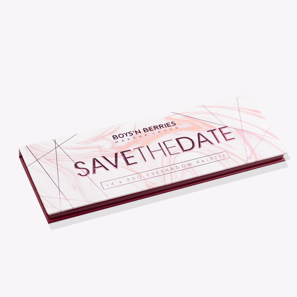 14K Pro Eyeshadow Palette Save The Date, Eyeshadow Palette, Boys'n Berries
