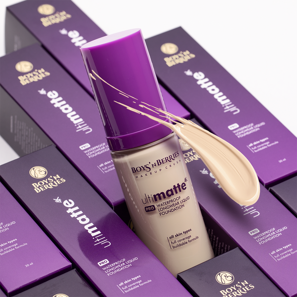 Ultimatte 4K PRO Liquid Foundation Vanilla, Liquid Foundation, Boys'n Berries