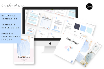 Essentials Canva Template Bundle of 25