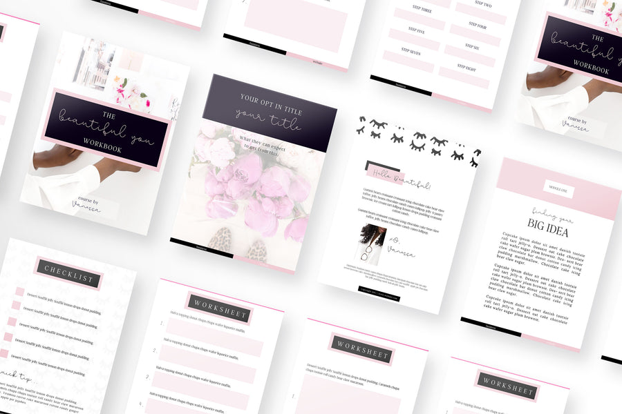 Beautiful You Canva Template Bundle of 20