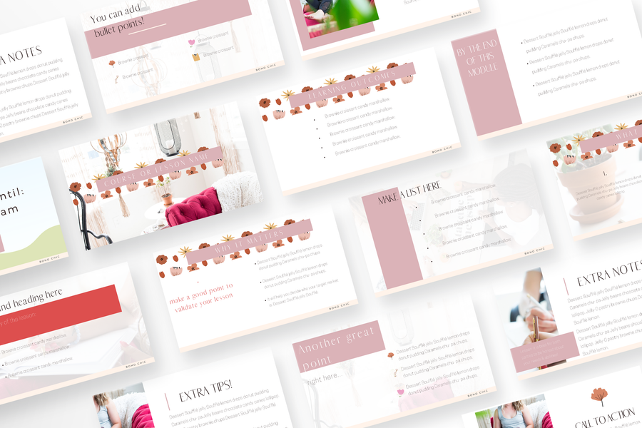 Boho Chic Canva Template Toolbox with 55 Templates