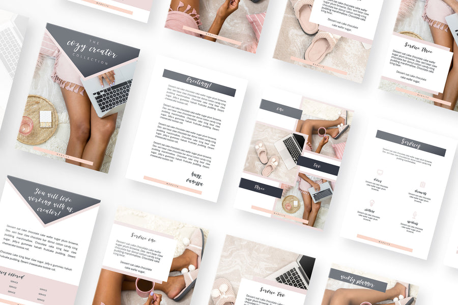 Cozy Creator Canva Toolbox with 70 Templates
