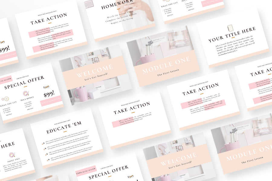 Femprenuer Canva Template Bundle of 30