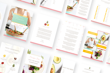 Foodie Canva Template Bundle of 30