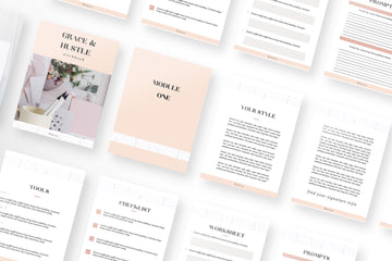 Grace and Hustle Canva Workbook 10 Pages