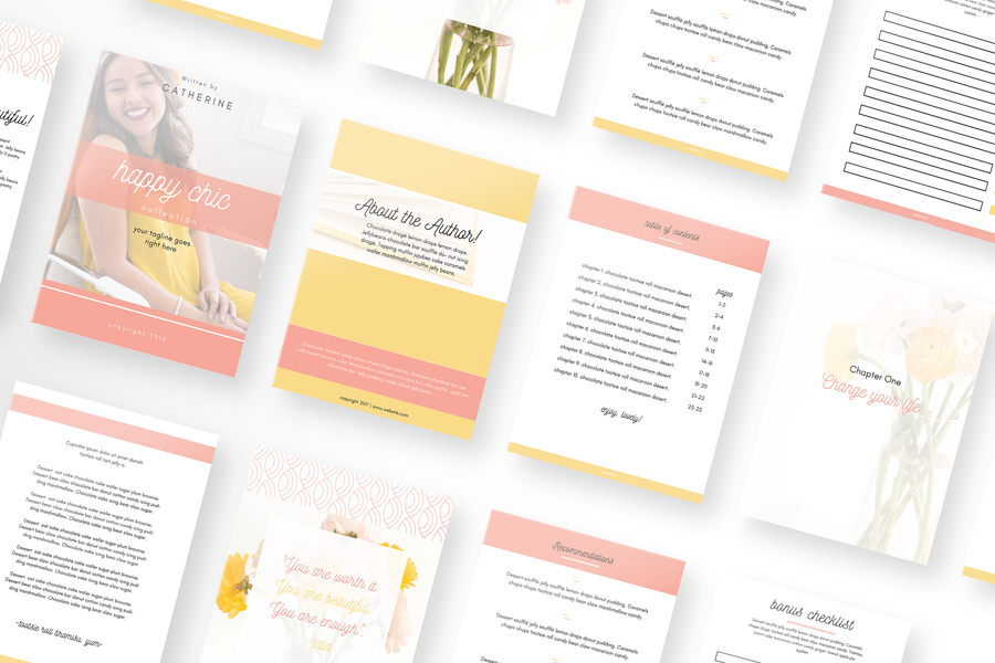 Happy Chic Canva Template Toolbox with 50 Templates
