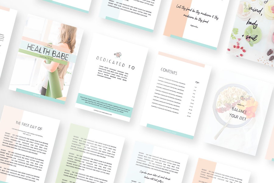 Health Babe Canva Template Toolbox with 70 Templates