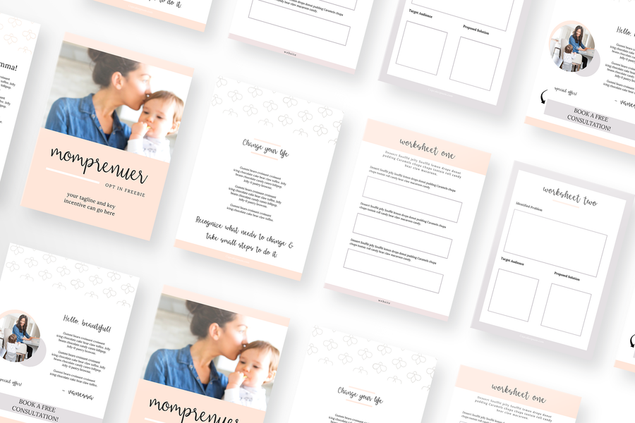 Momprenuer Indesign Template Toolbox with 50 Templates