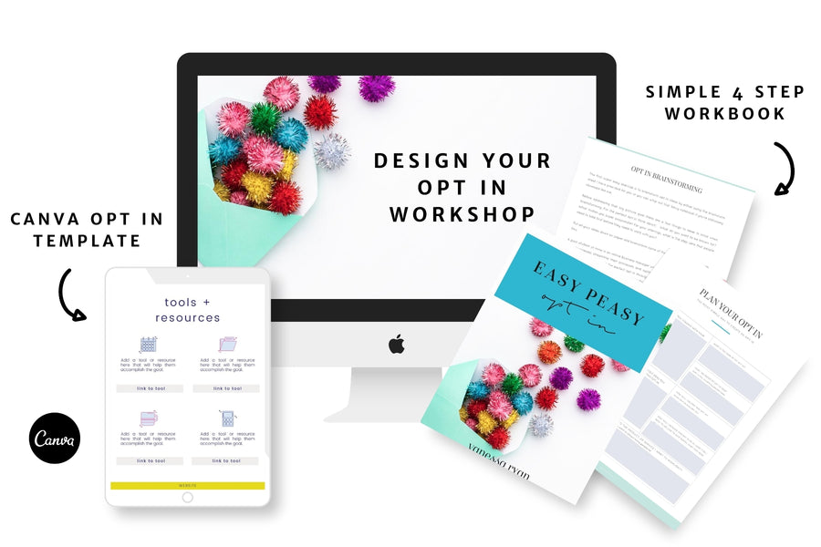 Opt in Design Workshop with Canva Templates