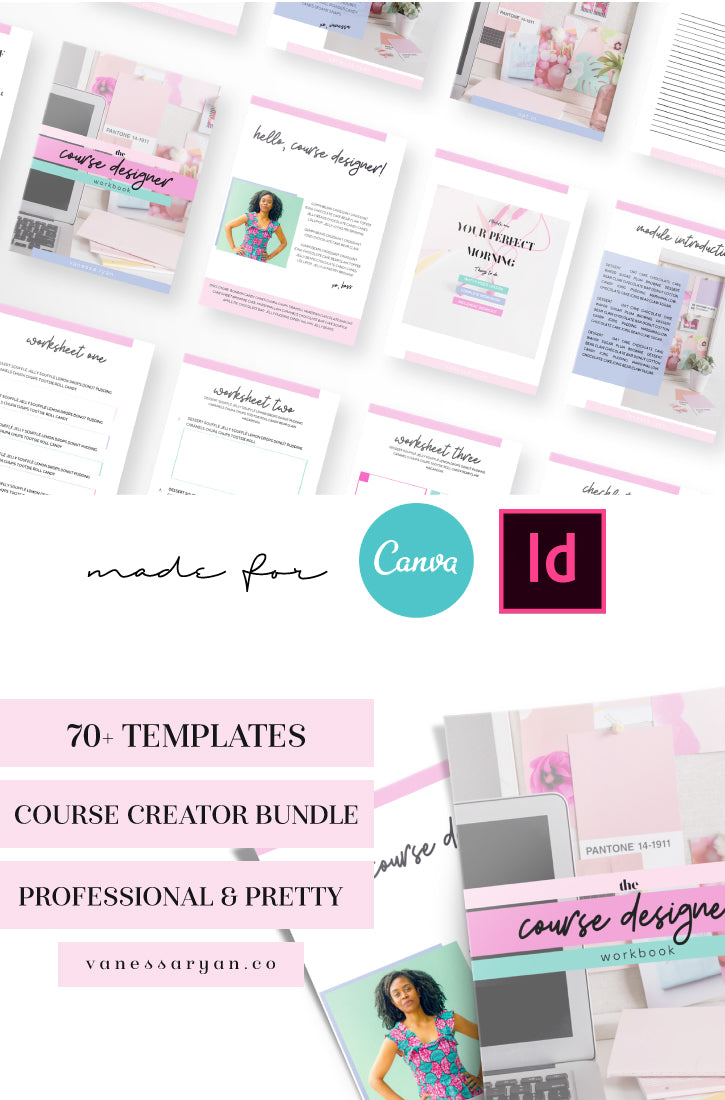 Course Designer Canva Toolbox with 70 Templates