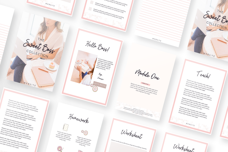 Sweet Boss Canva Template Bundle of 30