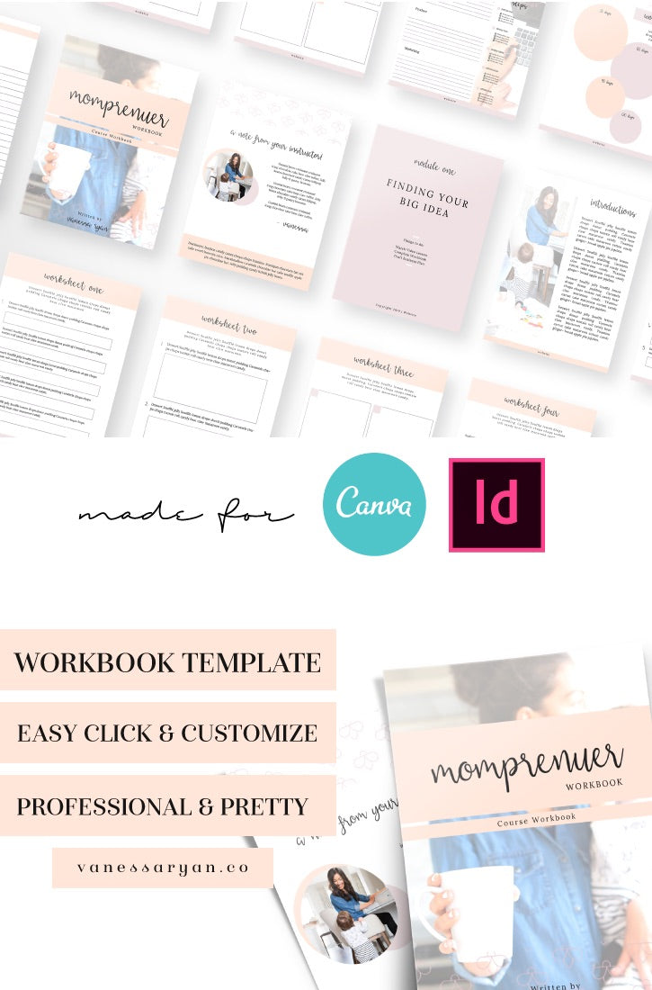 Momprenuer Canva Workbook 10 Pages