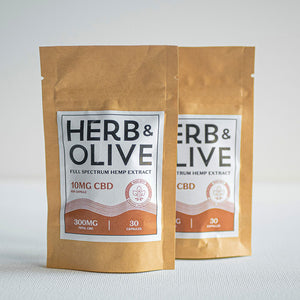 herb and olive oil 600mg 10mg gel capsules