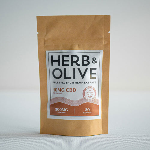 herb and olive oil 300mg 10mg gel capsules