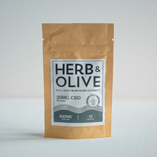 Load image into Gallery viewer, herb and olive oil 300mg 20mg gel capsules