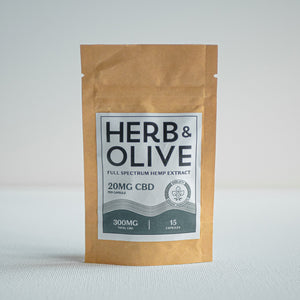 herb and olive oil 300mg 20mg gel capsules