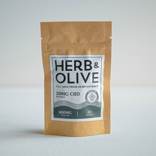 herb and olive oil 600mg 20mg gel capsules