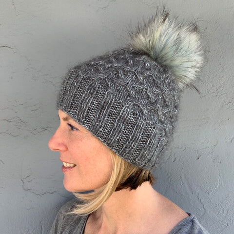 photo of person in knit hat