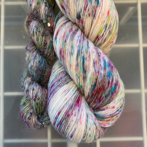 photo of skein of multicolored yarn
