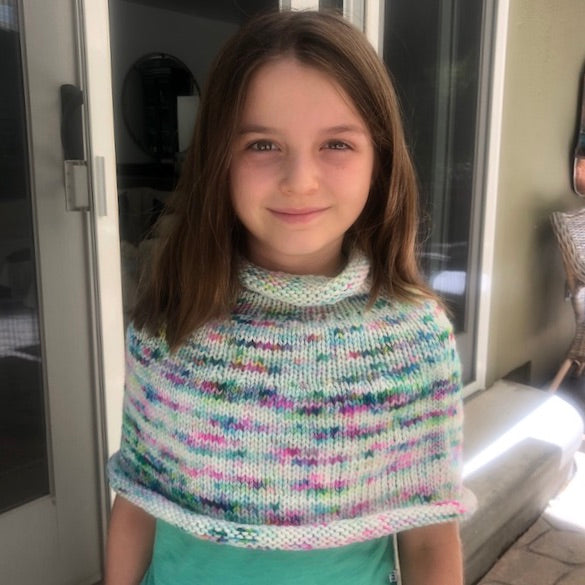 Children's Capelet Knitting Kit | Lorna's Laces Shepherd Bulky & Knitting Pattern (#001)