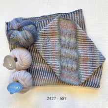 Load image into Gallery viewer, Linen Stitch Cowl (Cardiff & Zauberball version) Knitting Kit | Cardiff Small Cashmere, Zauberball Crazy & Knitting Pattern (#228)