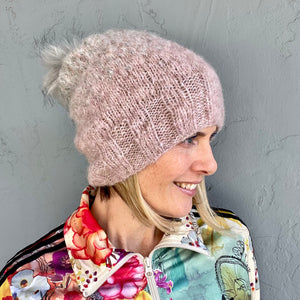 Speckled Ombré Hat (Katia version) Knitting Kit | Katia Alpaca Silver/Gold & Knitting Pattern (#344)