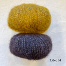 Load image into Gallery viewer, Speckled Ombré Hat (Katia version) Knitting Kit | Katia Alpaca Silver/Gold & Knitting Pattern (#344)
