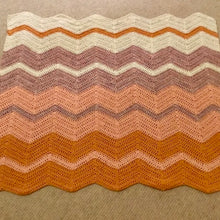 Load image into Gallery viewer, Crocheted Chevron Baby Blanket Crochet Kit | Crystal Palace Cotton Twirl & Crochet Pattern (#259)