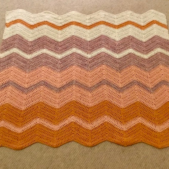 Crocheted Chevron Baby Blanket Crochet Kit | Crystal Palace Cotton Twirl & Crochet Pattern (#259)