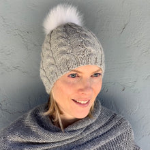 Load image into Gallery viewer, Basic Cabled Hat (worsted version) Knitting Kit | Cascade Pure Alpaca & Knitting Pattern (#98A)