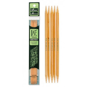Clover Takumi Bamboo Double-Pointed Knitting Needles