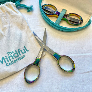 Mindful Collection Folding Iridescent Rainbow Scissors