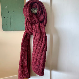 Double Broken Rib Scarf Knitting Kit | Queensland Kathmandu Aran & Knitting Pattern (#003A)