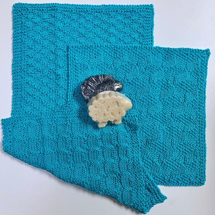 Pima Cotton Washcloths Knitting Kit | Ultra Pima Cotton & Knitting Pattern (#212)
