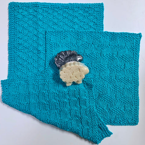 Pima Cotton Washcloths Knitting Kit | Pima Cotton & Knitting Pattern