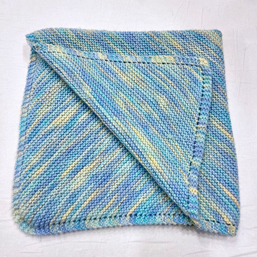 Diagonal Baby Blanket (Lorna's version) Knitting Kit | Lorna's Laces Shepherd Worsted & Knitting Pattern (#086)