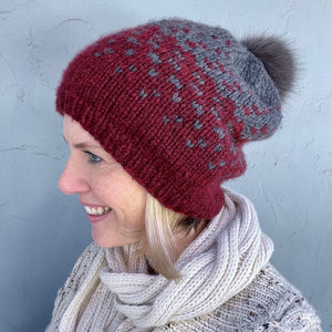 Mika Hat Knitting Kit | Berroco Catena & Knitting Pattern