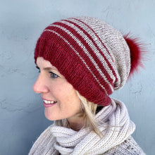 Load image into Gallery viewer, Acadia Striped Hat Knitting Kit | The Fibre Company Acadia & Knitting Pattern (#304)