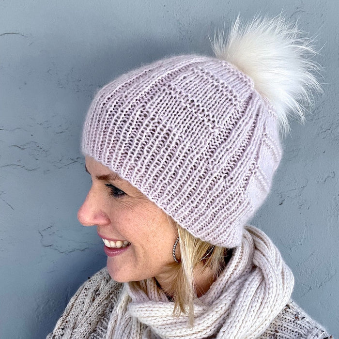 Column and Ridge Hat Knitting Kit | Jade Sapphire Peeeps & Knitting Pattern (#306B)