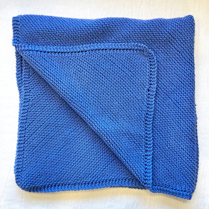 Diagonal Baby Blanket (Karabella version) Knitting Kit | Karabella Aurora 8 & Knitting Pattern (#086)