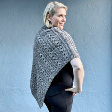 Load image into Gallery viewer, Queensland Cabled Poncho Knitting Kit | Queensland Kathmandu Aran & Knitting Pattern