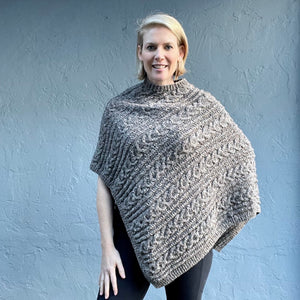 Queensland Cabled Poncho Knitting Kit | Queensland Kathmandu Aran & Knitting Pattern