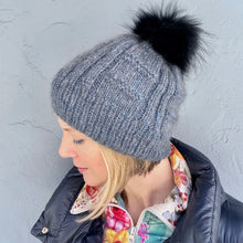 Load image into Gallery viewer, Column and Ridge Hat Knitting Kit | Jade Sapphire Peeeps & Knitting Pattern (#306B)