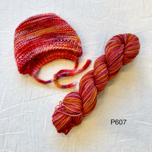 Load image into Gallery viewer, Baby and Preemie Bonnet Knitting Kit | Koigu Premium Merino & Knitting Pattern (#315)