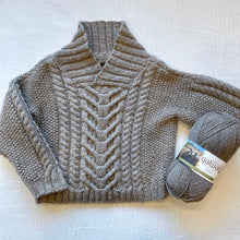 Load image into Gallery viewer, Baby Fisherman's Pullover Knitting Kit | Plymouth Galway & Knitting Pattern